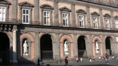 Italy - Naples - Palazzo Reale Stock Footage