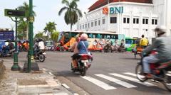 Jogjakarta city  Stock Footage