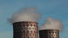 Cooling towers - HD 1080p Stock Footage
