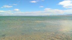 Slow pan across Mono Lake on a windy day. Stock Footage