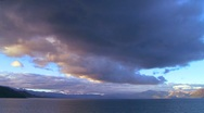 Stock Video Footage of Huge cloud formations form over Lake Tahoe in this time lapse shot.
