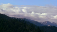 Clouds roll over the Sierra Nevada mountains near Lake Tahoe. Stock Footage