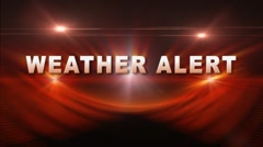 WEATHER ALERT Transition Stock Footage