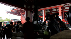 Dragon Fountain at Senso-ji Temple in Tokyo, Japan Stock Footage