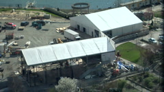 Construction Of LiveCity Temporary Buildings - stock footage