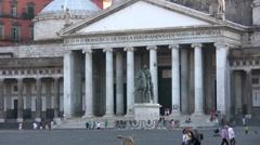 Naples - Piazza del Plebiscito - stock footage