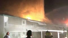 Condo Fire LFR #2 Stock Footage