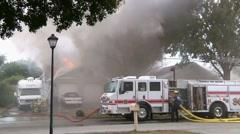 House Fire Heavy Flames & Smoke #2 Stock Footage