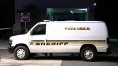 Forensics Van Stock Footage
