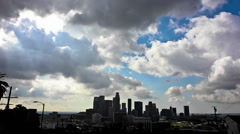 Time lapse of clouds passing dramatically over a city. Stock Footage