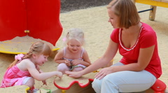 Playing in sand box Stock Footage