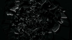 Breaking glass  - stock footage