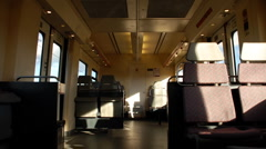 Madrid, Empty train carriage Stock Footage