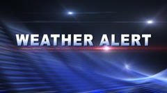 WEATHER ALERT Bumper - stock footage