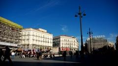 Madrid. La puerta del Sol Stock Footage