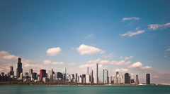 Chicago skyline timelapse 01 Stock Footage