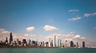 Stock Video Footage of Chicago skyline timelapse 01
