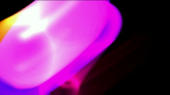 Abstract ring energy ball,rolling tube flare ray light laser tech background. Stock Footage