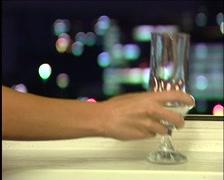 Glass on window Stock Footage