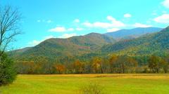 Autumn valley Stock Footage