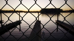Water Fence Stock Footage