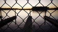 Stock Video Footage of Water Fence