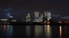 Time Lapse of Canary Wharf Stock Footage