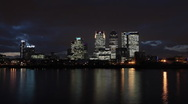 Stock Video Footage of Time Lapse of Canary Wharf