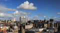 Glasgow Skyline Time lapse UK Aerial View from The Lighthouse, Cityscape, Sunny Footage