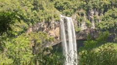 Beautiful Brazilian waterfall far shot version  2 Stock Footage