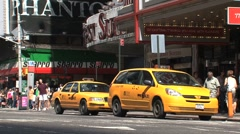 Yellow cabs at Times Square, New York City Stock Footage