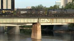 Train in Winnipeg Stock Footage
