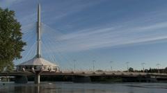 Provencher Bridge in Winnipeg, Canada - stock footage