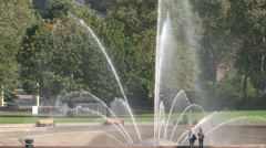 Millenium Fountain Seattle, United States Stock Footage