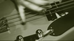 Playing on electric guitar Stock Footage