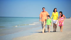 Healthy Family Time Outdoors - stock footage