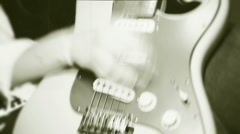 Female guitarist playing profession Stock Footage