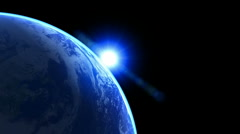 3d Earth Animation 25 alpha matte Stock Footage