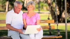 Seniors Technology Lifestyle Stock Footage