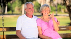 Senior Couple Enjoying Each Other's Company Stock Footage