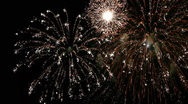 Stock Video Footage of Colorful Fireworks Celebration