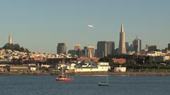 zeppelin San Francisco - stock footage