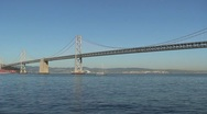 Bay bridge San Francisco Stock Footage