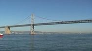 Bay bridge San Francisco Stock Footage
