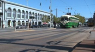 Ferry terminal and tram San Francisco Stock Footage