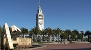 Ferry building San francisco Stock Footage