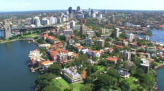 Sydney Harbour Northside Aerial Shot 2 Stock Footage