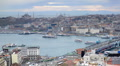 Istanbul Skyline Time lapse Hagia Sophia, The Sultan Ahmed Mosque Galata Turkey Footage