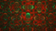 Red and green holiday pattern Stock Footage