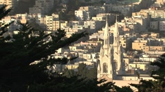 St. Peter and Paul's Church, The Italian Church of the West, San Francisco Stock Footage